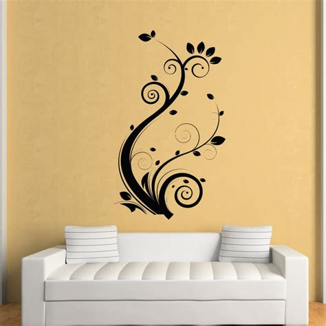 stickers for walls uk floral leaves flowers wall stickers wall decal transfers
