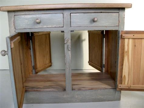 Barnwood Kitchen Island Work Station Farmhouse Kitchen Kitchen Work Station Island