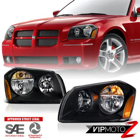 2005 dodge magnum aftermarket parts 2005 2007 dodge magnum se srt sxt rt black front