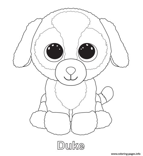 beanie boo coloring pages duke beanie boo coloring pages printable