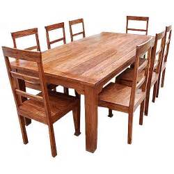 Real Wood Dining Room Furniture Rustic Furniture Solid Wood Dining Table Chair Set