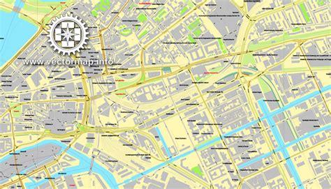printable map hamburg hamburg germany printable vector street city plan map in