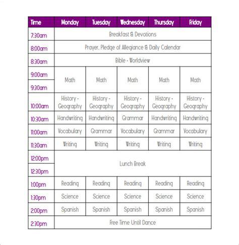 printable schedule for school weekly school schedule templates download free premium