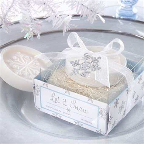 Winter Wedding Favors by Winter Wedding Snowflake Favor Soap Ewfs026 As