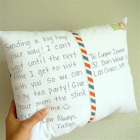 ways    touch   long distance bff postcard pillow personalised postcards