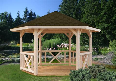 Pavillon 6 Eckig Holz by Wooden Hexagon Gazebo And Spa Enclosure