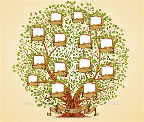 21 cool family tree illustration vectors desiznworld