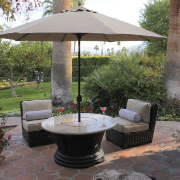 pit table with umbrella san simeon chat height multifunctional gas logs pit table