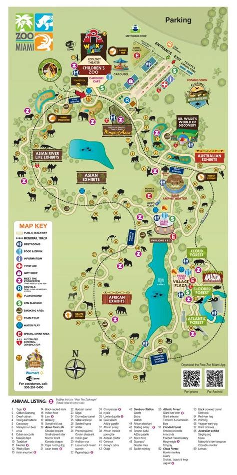 lincoln park zoo map zoo map zoo miami travel miami zoos and maps