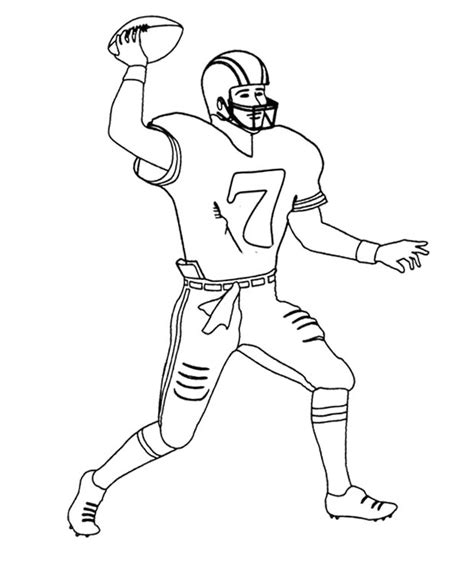 coloring pages of nfl players football player coloring pages only coloring pages