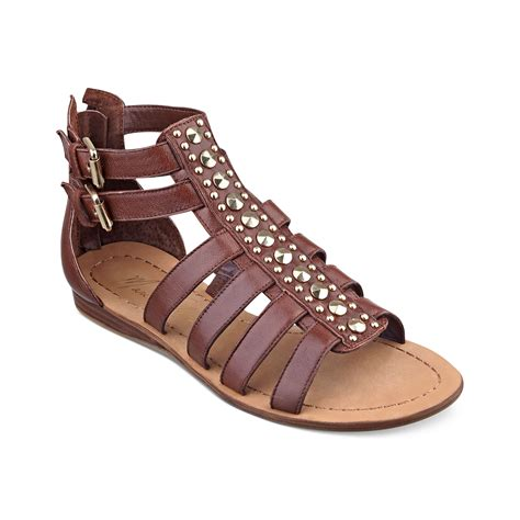 grande flat shoes marc fisher grande flat sandals in brown beige lyst