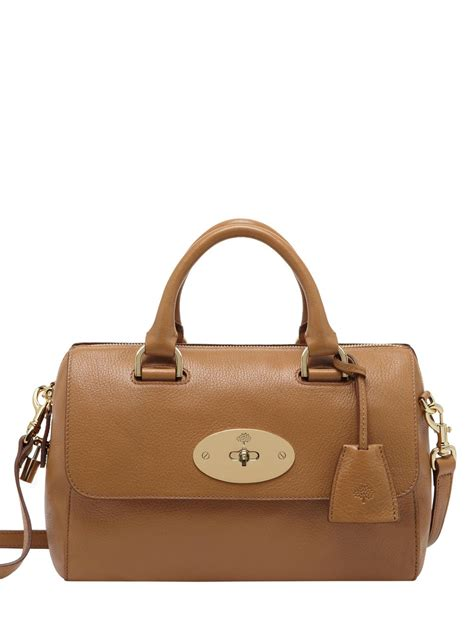 Wedges Glosy 12cm mulberry small glossy leather bag in brown lyst