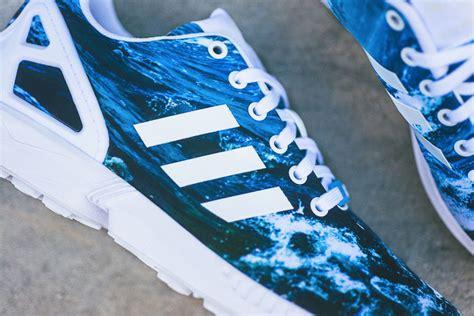 zx flux wave pattern footwear adidas originals release zx flux ocean waves