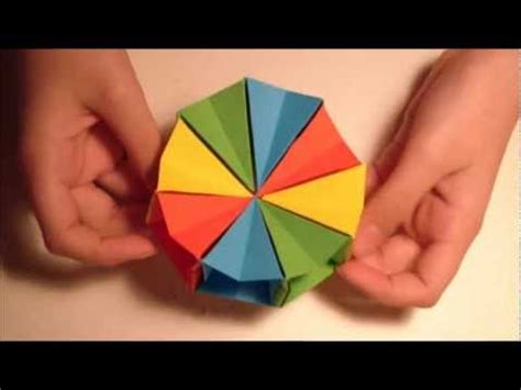 Circle Origami Paper - how to make an origami magic circle