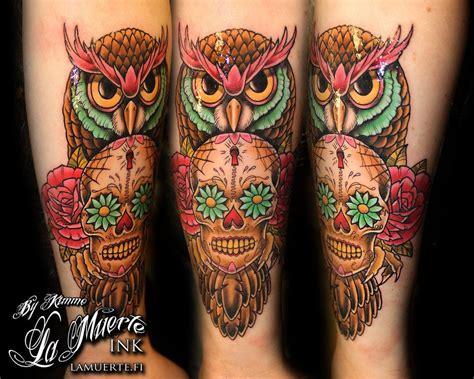 owl head tattoo owl skull tattoos search owl tattoos