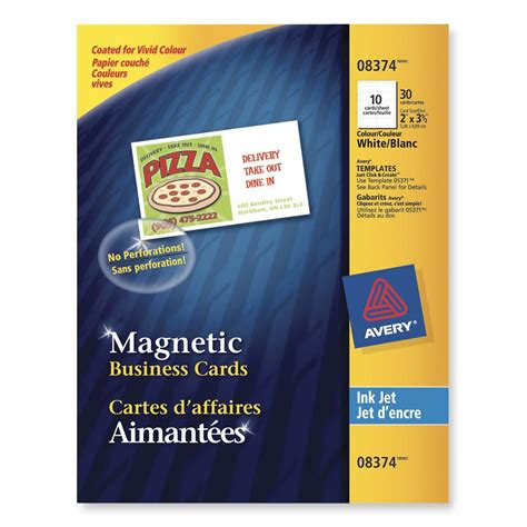 avery ink jet magnetic business cards template printer