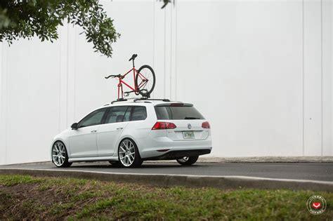 volkswagen golf wheels new volkswagen golf sportwagen gets vossen wheels