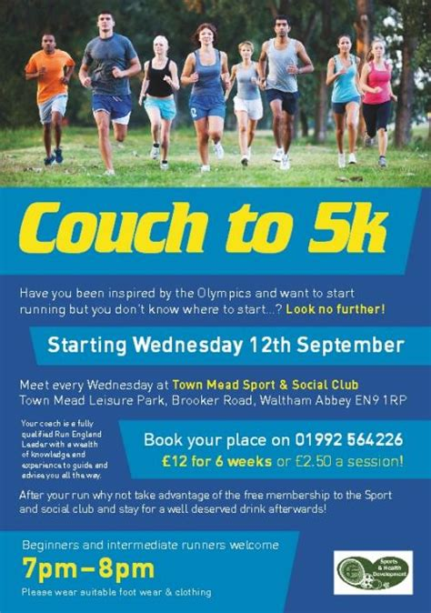 couch to 5k book news sport waltham abbey upshire and nazeing en9