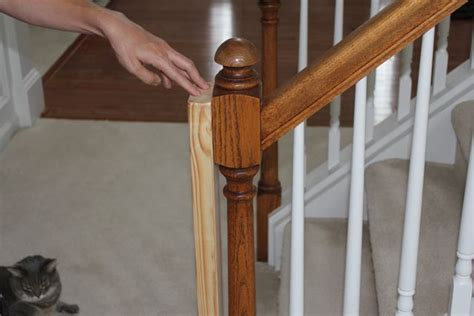 banister installation beauty in the ordinary installing a baby gate without