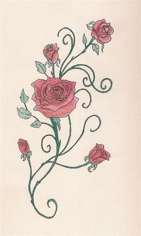roses with vines tattoo design http tattoomagz vine designs vine