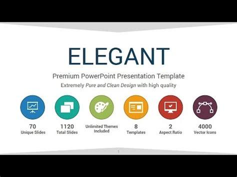 elegant powerpoint presentation template youtube