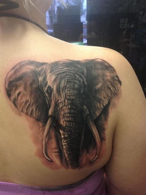 elephant tattoo on shoulder blade 57 stylish elephant shoulder tattoo designs