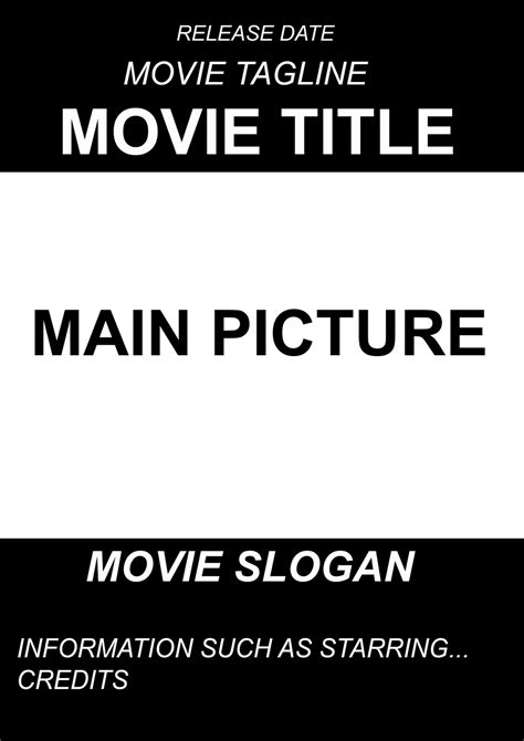A2 Advanced Portfolio Ancillary Project Movie Poster Templates Documentary Poster Template