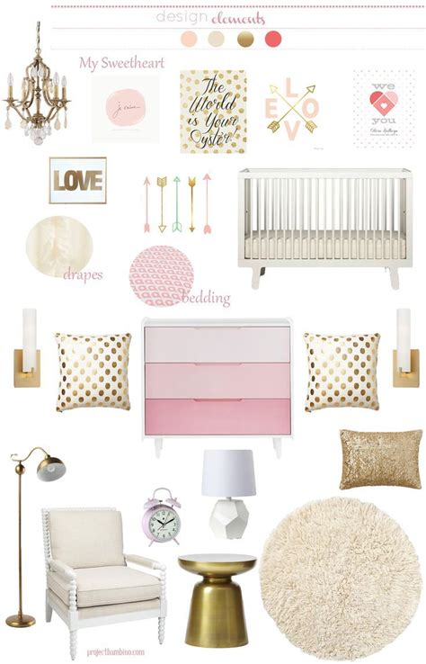 Pink Nursery Decor 176 Best Gold In The Nursery Images On Pinterest Nursery Babies Rooms And Baby Room