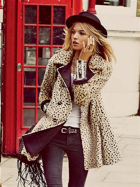 Fashion Freepeople by Winter Fall Free Leopard Swing Coat At Free