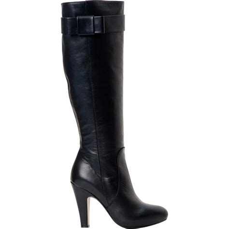 marion black leather boots paolo shoes