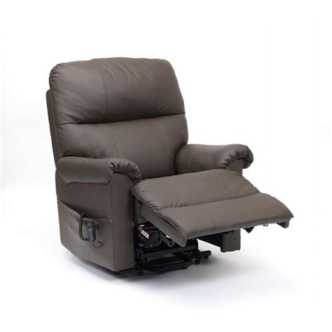 Single Leather Recliner Chairs by Borg Luxury Soft Real Leather Single Motor Riser Recliner