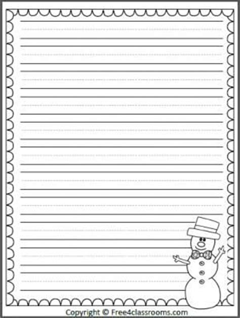 free printable snowman writing template free snowman winter writing template with print practice