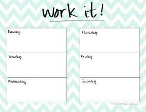 weekly workout schedule template weekly planner template health