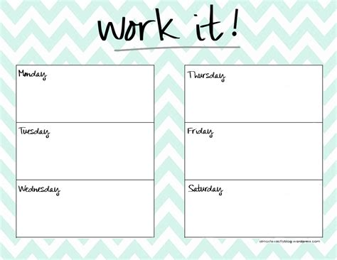 printable exercise organizer cute weekly planner template health pinterest