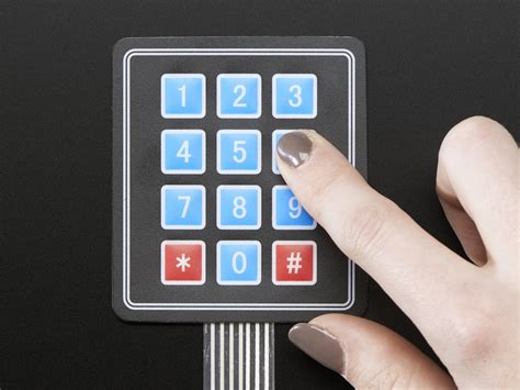Keypad Membrane Matrix 12 membrane 3x4 matrix keypad extras 3x4 id 419 3 95