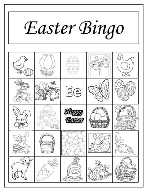 easter card templates print easter bingo printables merry and happy new