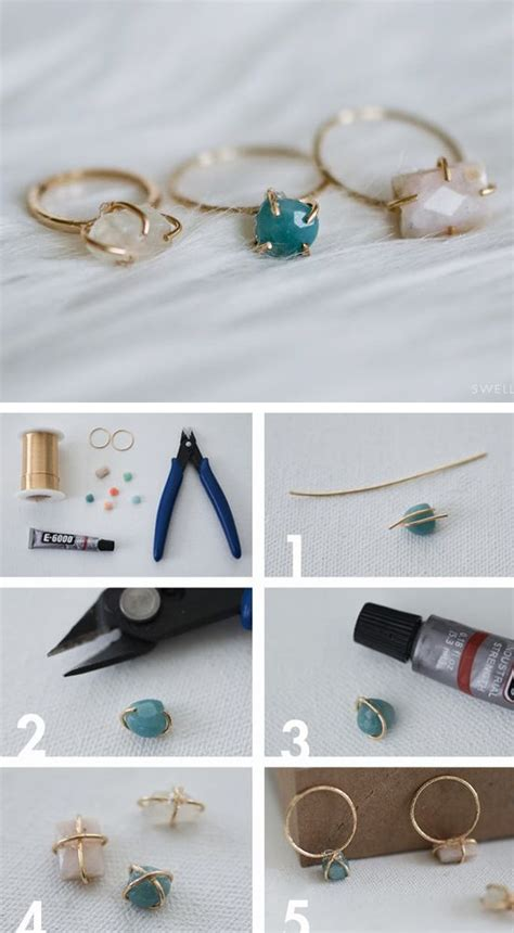 Handmade Jewelry Tutorials - diy jewellery make your own dainty set wire ring