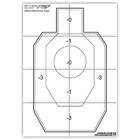 printable handgun shooting targets printable idpa practice target free printable shooting