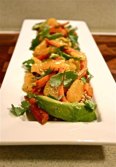 Detoxing With Cilantro by Detox Carrot Orange Avocado Cilantro Salad With Whole