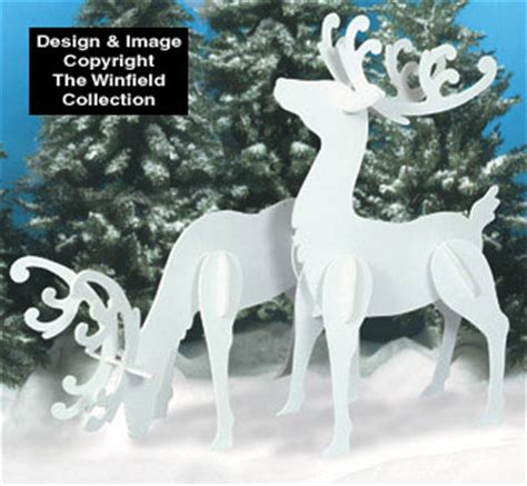 Pattern For White Wooden Reindeer | reindeer sleighs large white reindeer wood patterns