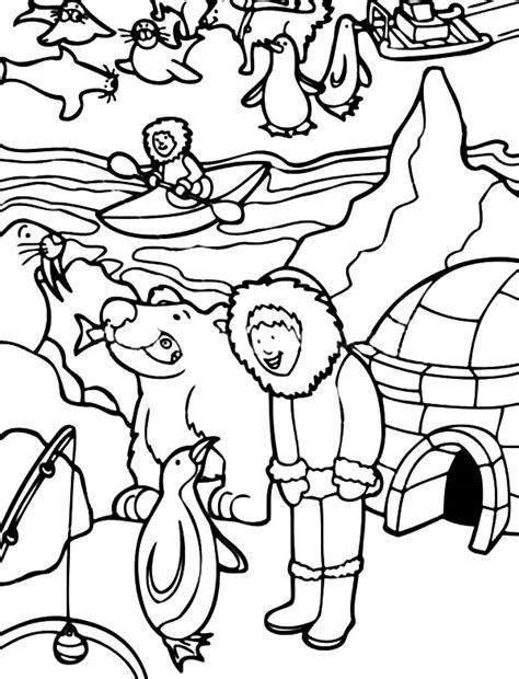 Eskimo Activity In Alaska Coloring Page : Color Luna