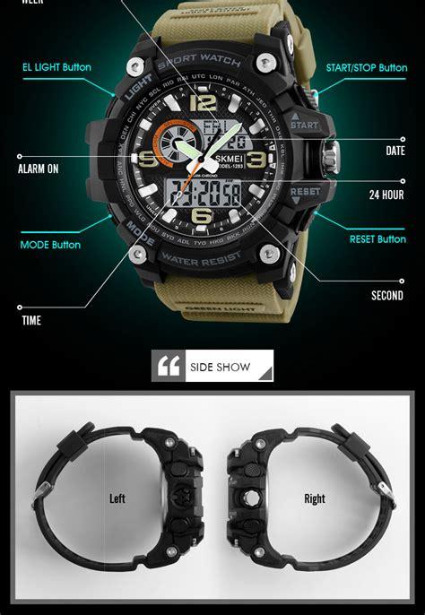 skmei  analog  time sports chronograph
