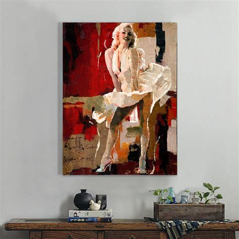 Marilyn Home Decor by Marilyn Abstract Painting Painted