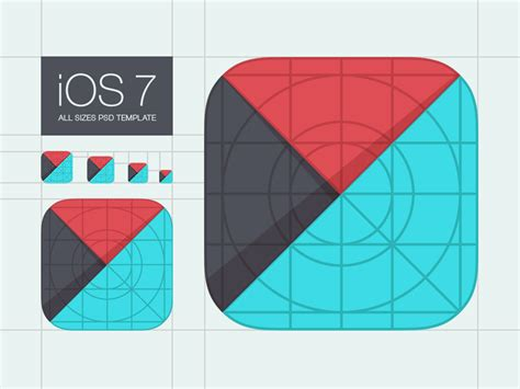 Template For Ios 7 App Icons By M18 Dribbble App Icon Template Illustrator
