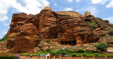 rock cave temples  badami steeped  history  heritage