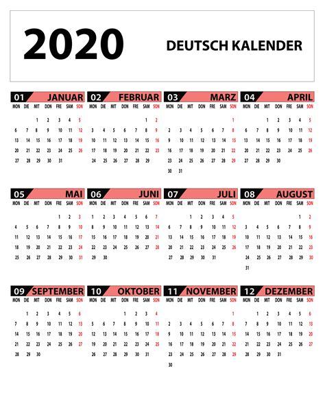 german calendar   kalender