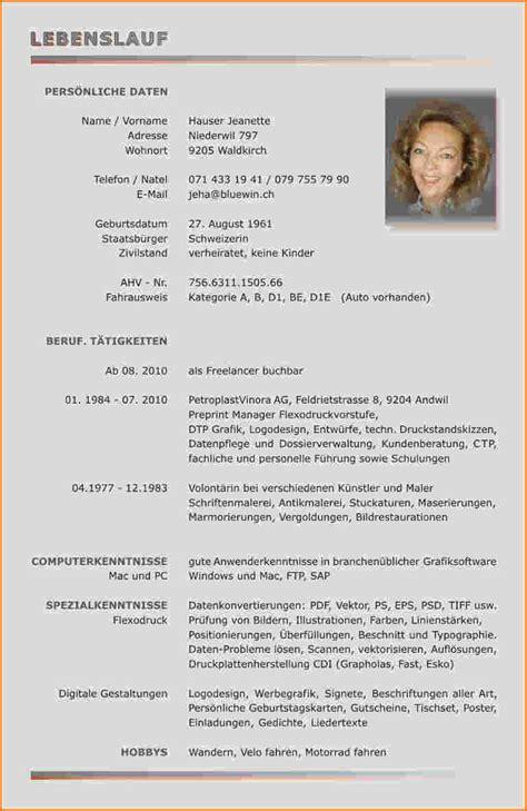 Lebenslauf Vorlage 2014 10 Lebenslauf Muster 2014 Reimbursement Format