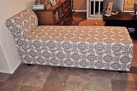 diy upholstered chaise lounge diy storage chaise lounge the owner builder network