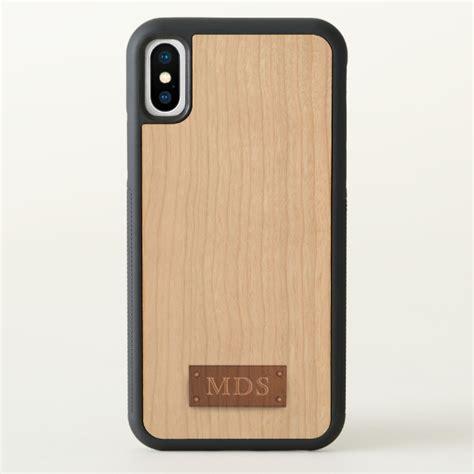 Wood Iphone Cherry Wood custom apple iphone x bumper cherry wood plus