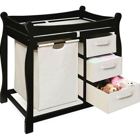 Changing Table Safety Black Changing Table With Her And Three Baskets By Badger Basket Cleanses The O Jays And